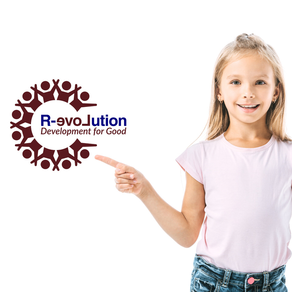 Training in Moray - Girl on white background with revolution for good logo