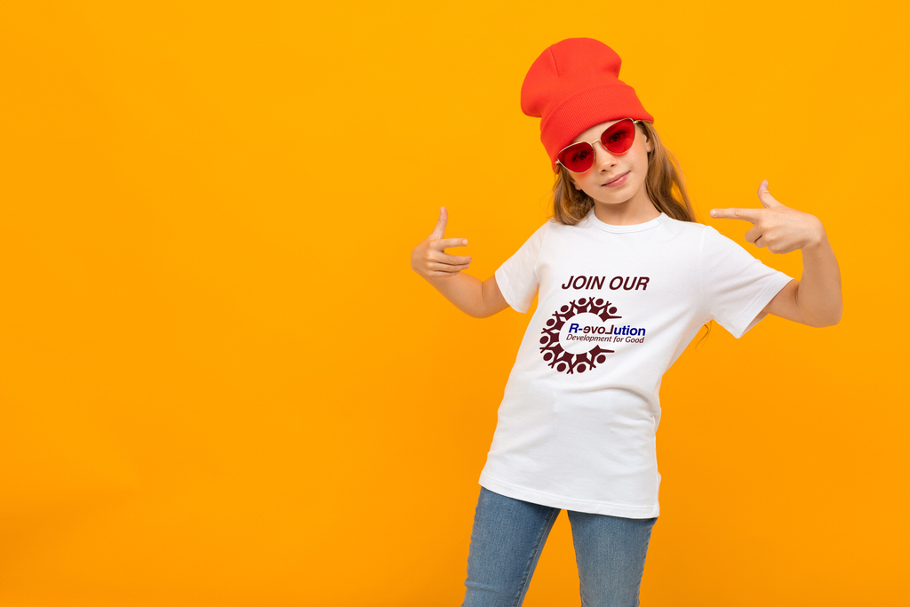 Buy Community Shares - young girl red hat with orange background buy community shares